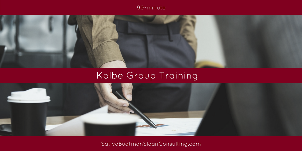 Sativa Boatman Sloan Consulting 90-minute Kolbe Group Training